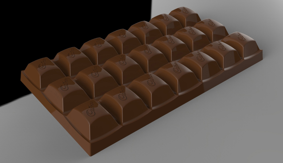 3D mould design for the cadbury 7 bar