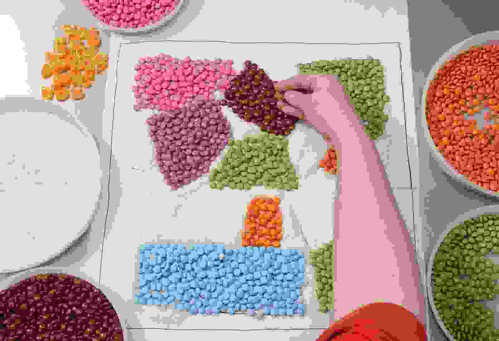 Smarties Food Art