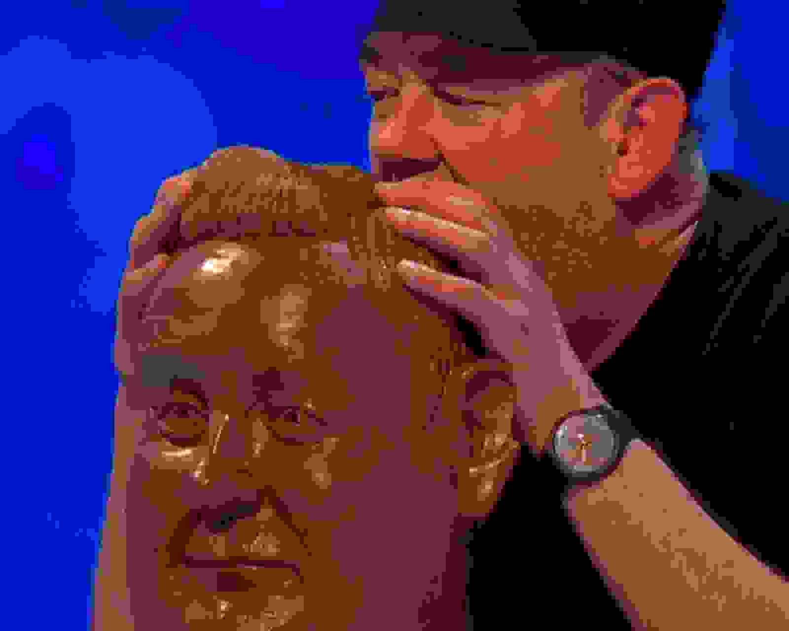 Johnny Vegas With Chocolate Head Sculpture